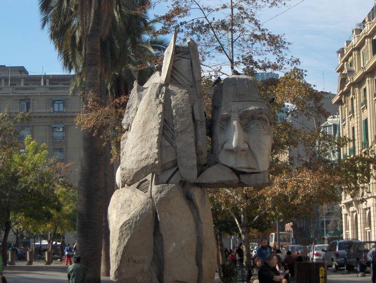 Sculpture in Santiago