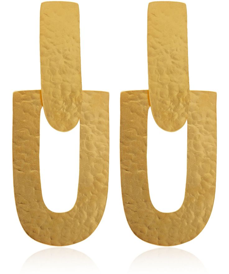 Herve Van Der Straeten Gold-Plated Flat Earrings | Accessories | Liberty.co.uk