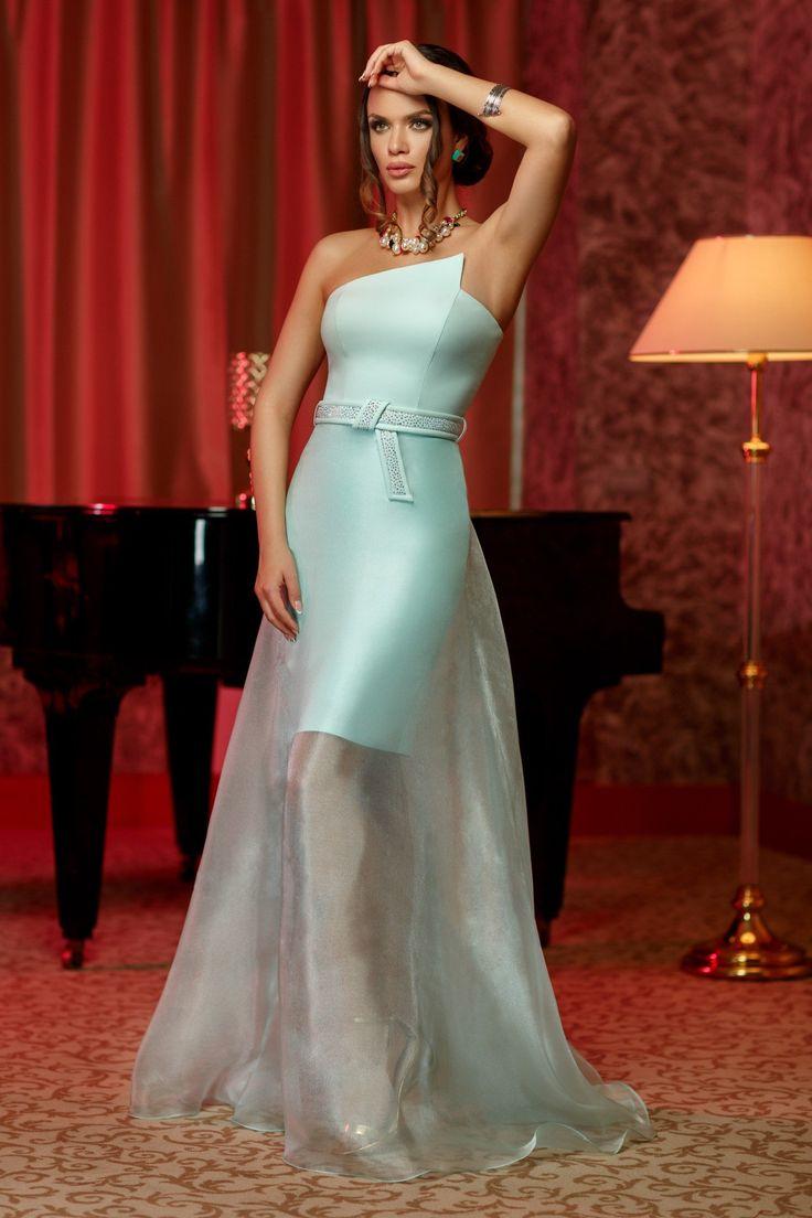 Rochie Lucille Mint 499 lei Rochie dublata de voal