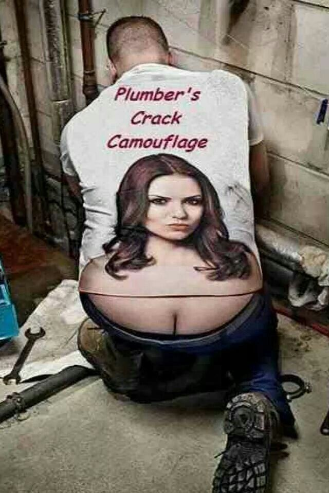 Plumber's crack camouflage.....