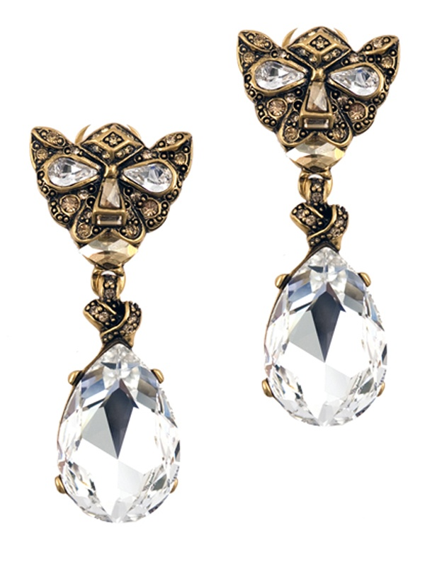 #Oscar_de_la_Renta Bejewelled #Panther #Earrings $525, in-store and online at www.jeanbrown.com.au #jean_brown
