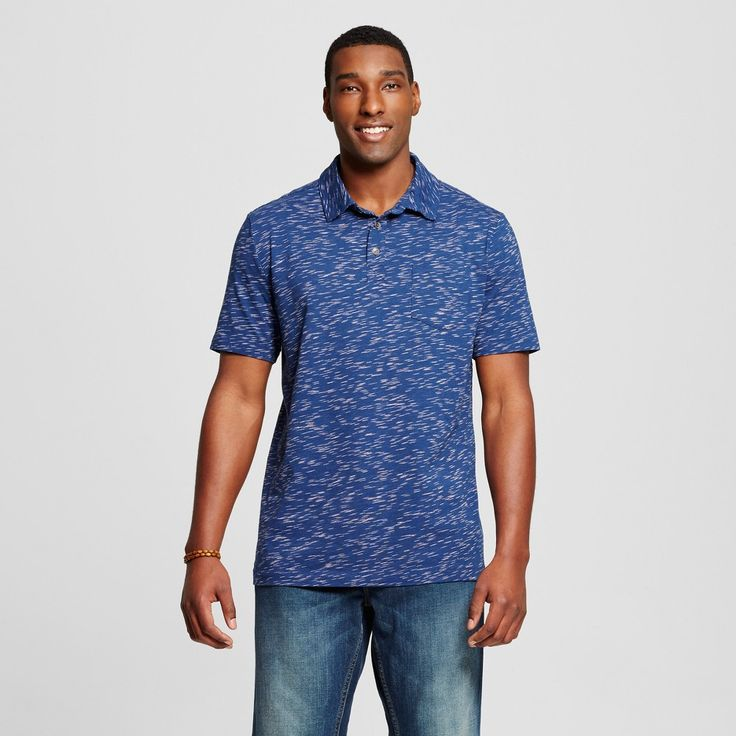 Men's Big & Tall Polo Shirt Blue 3XBT - Mossimo Supply Co., Size: 3XB Tall