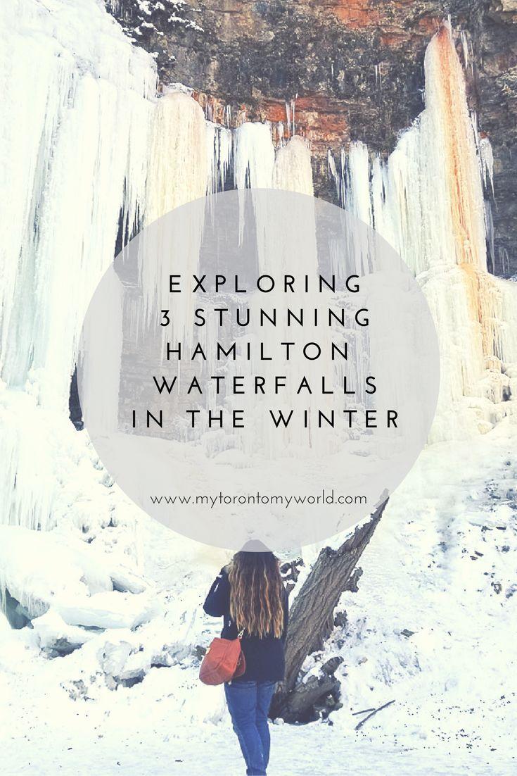 Exploring 3 stunning Hamilton, Ontario, Canada waterfalls in the winter