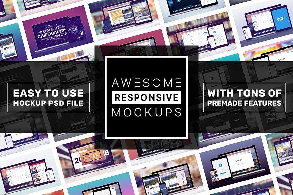 Download Awesome Responsive Mockups Psd Mockup Template Mockup Free Psd Design Mockup Free