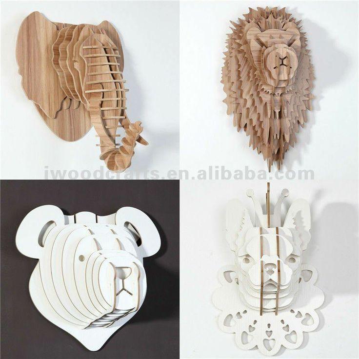Madera de cabeza de alce decoracion de pared cabeza de ciervo products deer and woods - Cabeza de ciervo decoracion ...