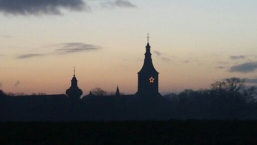 The abby of Rolduc in the south of the Netherlands.  This is my view almost every morning..walking the dogs.