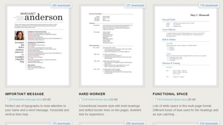 A good resume can land you that job interview, so you want to stand out. If formatting a resume isn't your thing, Hloom has 275 free Microsoft Word templates to download.