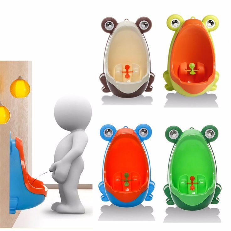 Hogar Cennet Zaman Sınırlı Kurbağa Boys için Çocuk Tuvalet Tuvalet Eğitimi Çocuklar Pisuvar Pee Trainer Banyo