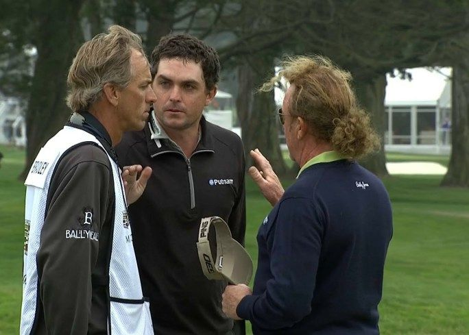 Keegan Bradley and Miguel Angel Jimenez dispute at Cadillac Match Play – PGA Tour Videos