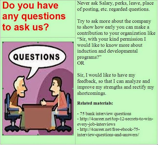 List Of Job Interview Materials: Useful Job Interview Materials: Find This  Pin And More On Bank Interview Questions ...