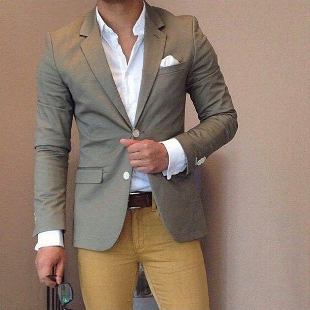 M s de 25 ideas incre bles sobre pantalon mostaza hombre - Colores para combinar con gris claro ...