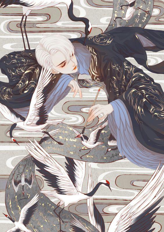 二 君翎 原创作品 涂鸦王国插画 Anime art, Asian art, Oriental art