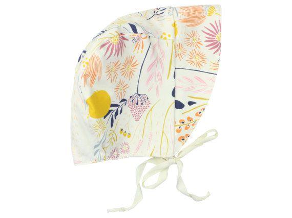 Baby Sun Bonnet Toddler Sun Bonnet Wild Flower by TwoDreamsShop