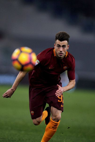 Stefan El Shaarawy of AS Roma in action during the Serie A match between AS Roma and AC ChievoVerona at Stadio Olimpico on December 22, 2016 in Rome, Italy.