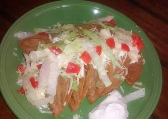 Tacos Durados Recipe -  Yummy this dish is very delicous. Let's make Tacos Durados in your home!