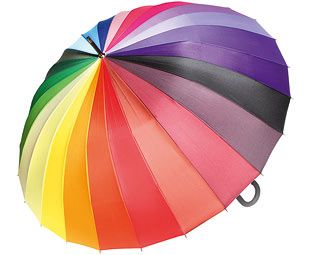 Expert Verdict Extra Large Multi-Colour Wind-Resistant Umbrella This wonderful wheel of colour is guaranteed to cheer up rainy days. The giant canopy is strengthened by no fewer than 24 strong spokes, so it should stand up to years of wind and rain, and is easily  http://www.MightGet.com/january-2017-11/expert-verdict-extra-large-multi-colour-wind-resistant-umbrella.asp
