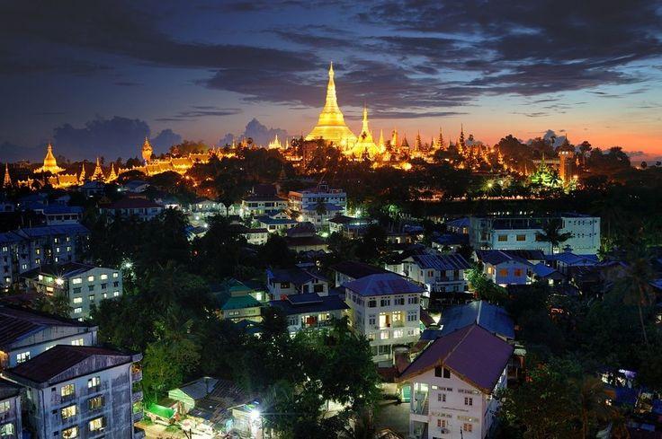 Night beauty of Yangon