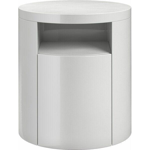 Bates 1 Drawer Nightstand In 2020 Modern Nightstand White