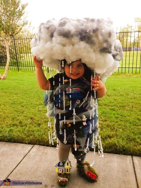 She's the sunshine in your day, but for Halloween...your little one will be a force to be reckoned with! With a whole lot of cotton batting and some creative juices, your little tornado terror will come to life :)