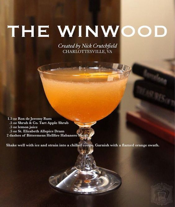 The Winwood cocktail - by Nick Crutchfield for Cori Paige Under my Host Show. . . . . . . . . . . . . . . . . . . . . . . . . . .   #rondejeremy #cocktails #bartenders #tasty #rum #rumwithatwist #theoriginaladultrum #ronjeremyrum #mixology #mixing #creative