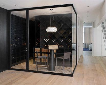 Wine Room, Contemporary Wine Cellar, New York
