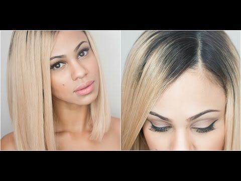 How I Apply My Full-Lace Wigs: Natural Looking Part - YouTube
