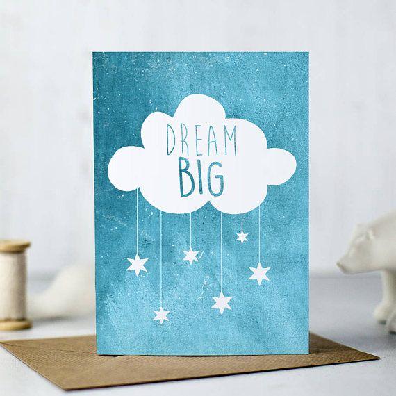 Dream Big Card  Birthday card  New Baby Card  Baby Shower