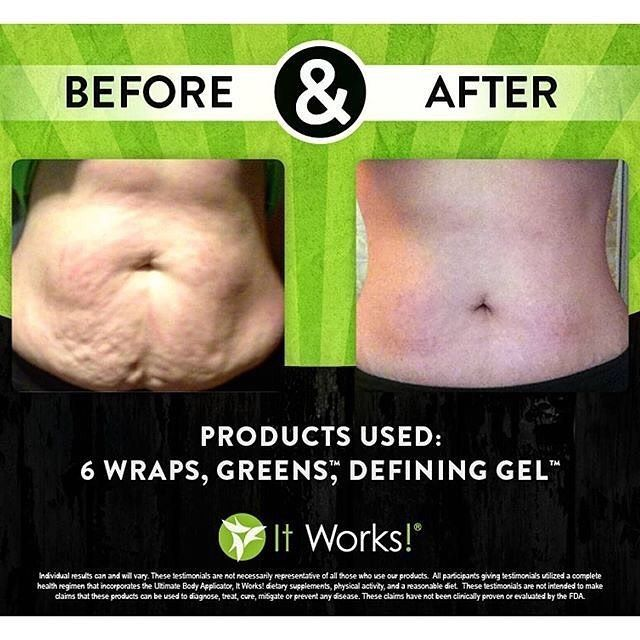 This is some Crazy good stuff😱 People are seeing amazing results with our products‼️ What are you waiting for⁉️ Get the body you've always wanted💁🏻 👙Tighten, Tone and Firm with Wraps 🌱🍋 Get natural energy, detox and alkalize with Greens 💚Reduce the appearance of cellulite with Defining Gel #goals #newmom #mommyof2 #iwantmybodyback #natural