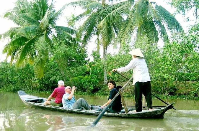 "Mekong Delta Full-Day Small Group Guided Tour from Ho Chi Minh City The Mekong River Delta is known as Vietnam's ""Rice Basket"" and you'll be amazed by its breathtaking valley. Today, take a day trip from Saigon to the Mekong Delta and gain a deeper appreciation for this fertile land.Spend a day along the glorious Mekong River Delta by bus and boat. Discover a world of beauty at Unicorn Island, travel past stilted houses, and spend some time at a bee farm relaxing with a honey ..."