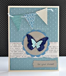 Stampin' Up Pennant Parade, Beautiful Butterflies: Beautiful Butterflies, Butterfly Cards, Cards Butterflies, Pennant Parade, Butterfly Bird Cards, Card Ideas, Card Making, Parade Su, Paper Crafts