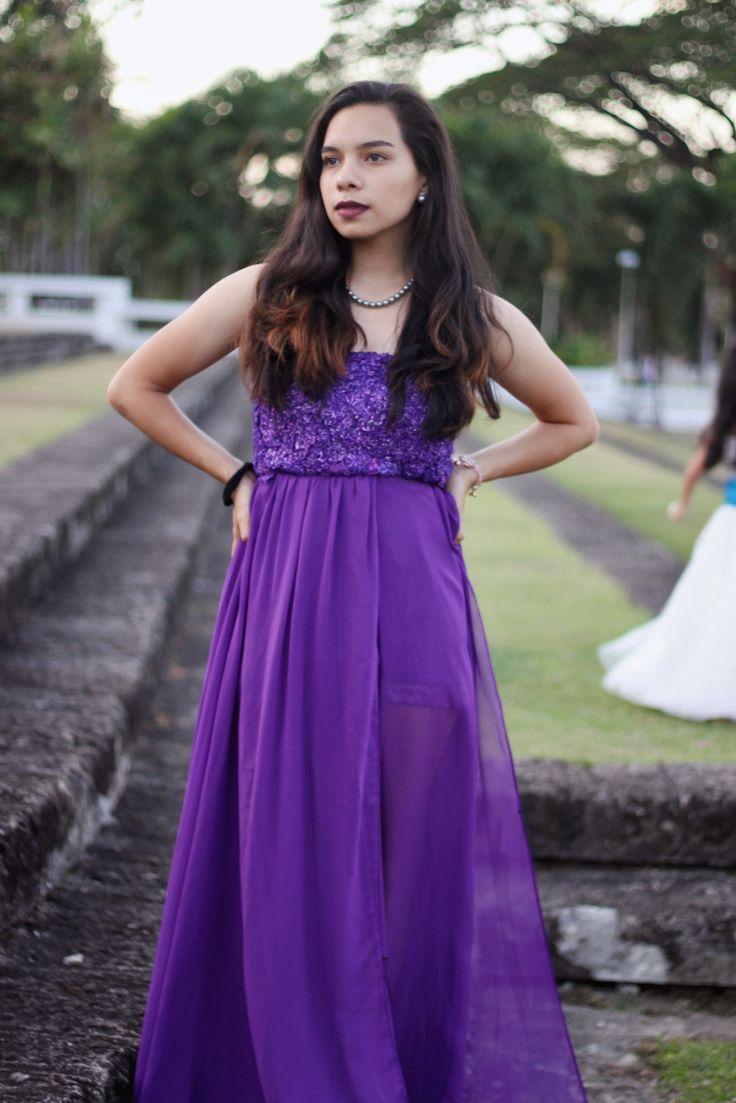 Самые красивые фиолетовые платья