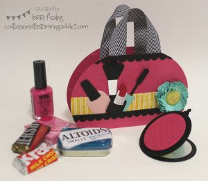 Make Up Purse :: Confessions of a Stamping Addict Lorri Heiling Make Up/Cosmetic Purse Gift