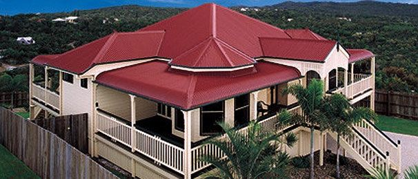 Queenslander Homes - wrap around verandah, large eaves & above ground for airflow.