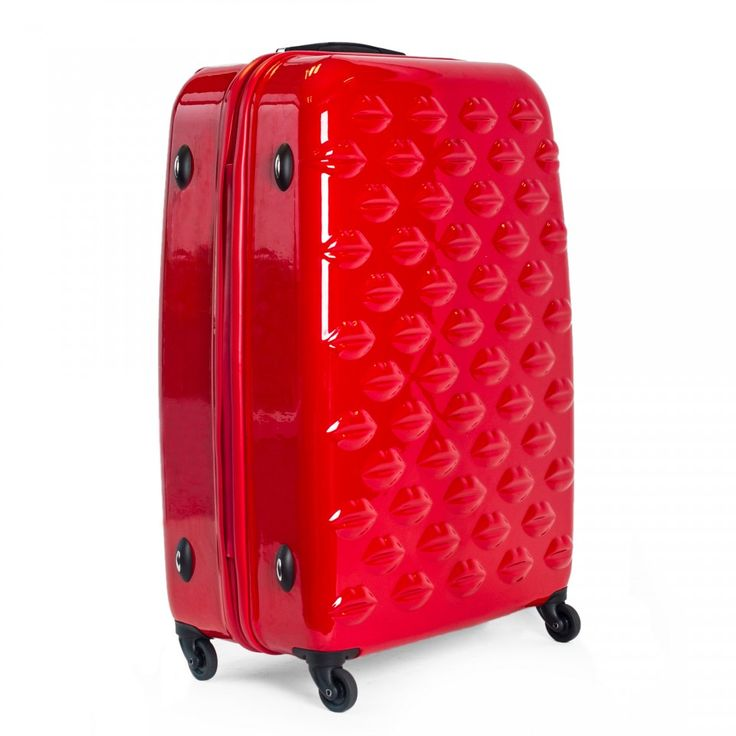Red Hard Sided Lips Large Spinner Case: <p>Make a glamorous getaway with all your jet-set essentials. The Red Hard Sided Lips Large Spinner Case  is the ideal piece of luggage for any style-conscious female traveller. Includes set of three drawstring bags for accessories.</p> - Visit Lulu Guinness at http://www.luluguinness.com/