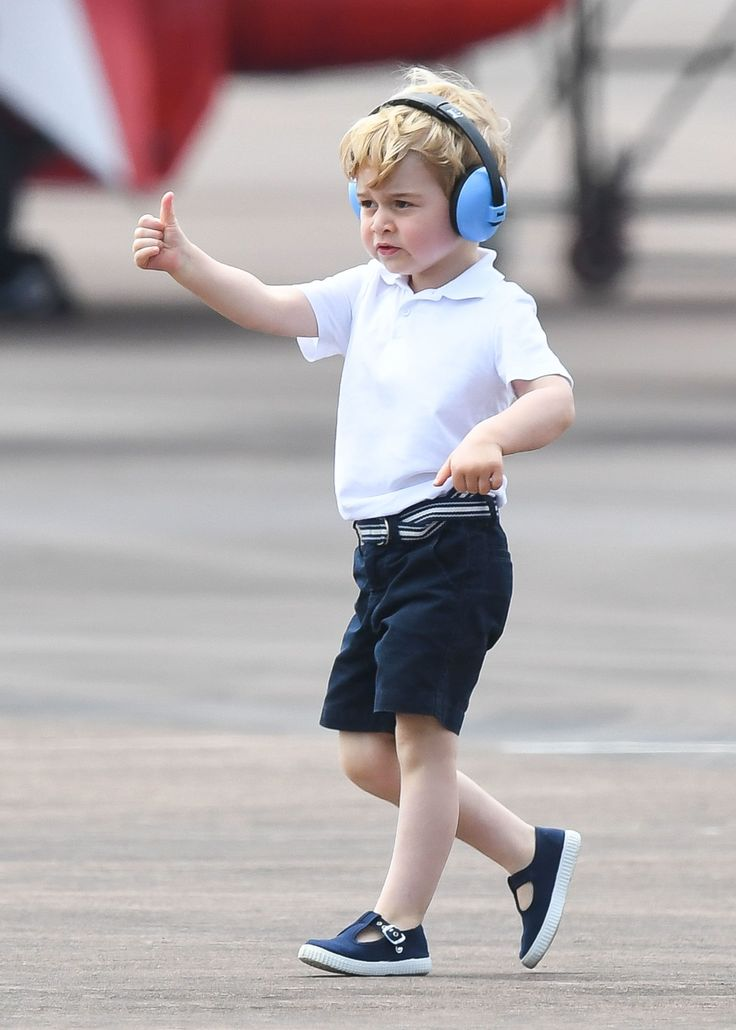 Prince George Toured Helicopters at a Royal Air Show, and Had a Tantrum