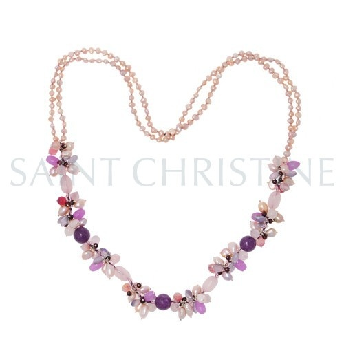 Mixed Color Graceful Freshwater Cultured Pearl Necklace