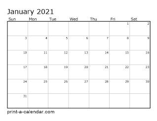 Download 2021 Printable Calendars | Printable calendar pdf