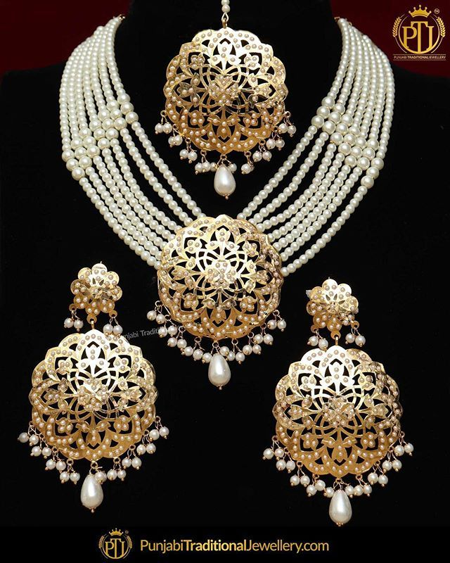 Featured Gold Finished Pearl Necklace Set Shop Our Latest