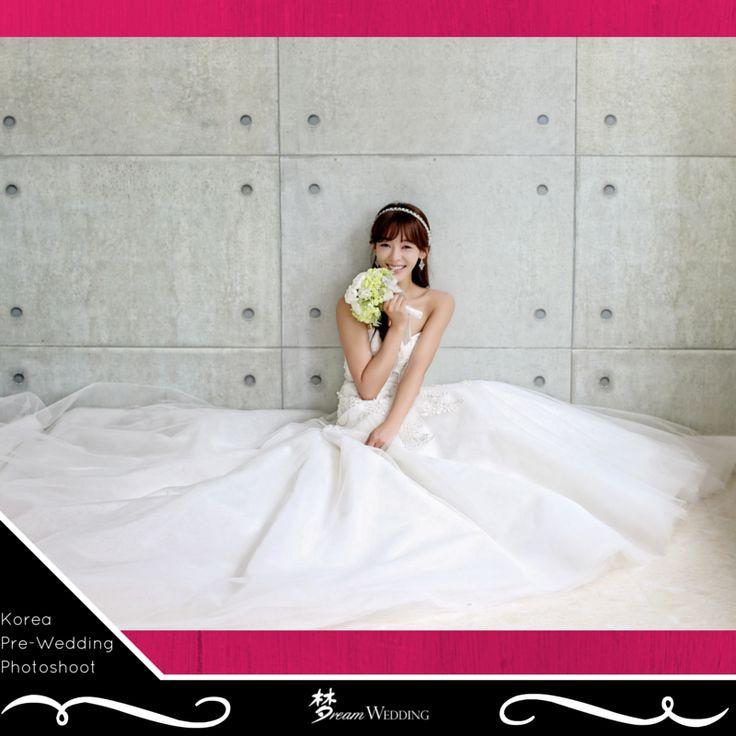 Trumpet wedding gown Tulle wedding gown Korean