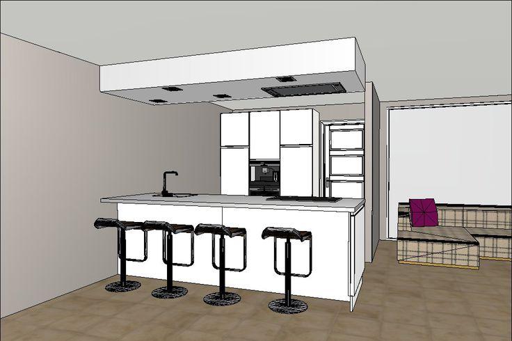 17 beste afbeeldingen over 3d keukenontwerpen op pinterest met tips en bar - Ontwerp keuken bar ...