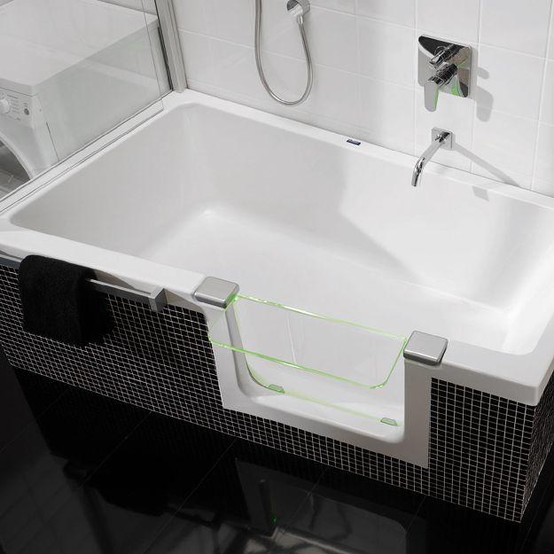 194 beste afbeeldingen over kleine badkamer op pinterest toiletten de stijl en duravit - Idee badkamer kleine ...