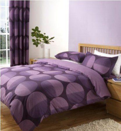 Mirage Violet Parure de lit housse de couette 140 x 200 cm + taie 50x75