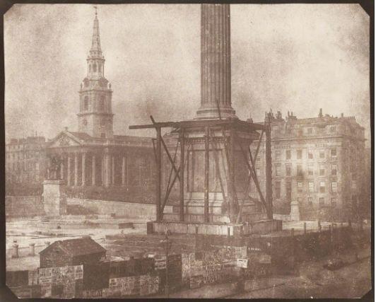William Henry Fox Talbot Nelson's Column Under Construction, Trafalgar Square, London, 1844 Robert Klein Gallery