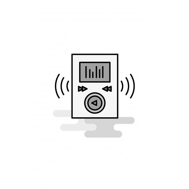 Music Player Web Icon Flat Line Filled Gray Icon Vector Music Icons Web Icons Icons Converter Png And Vector With Transparent Background For Free Download Web Icons Digital Elements Business Buttons