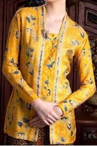 kebaya batik kuning