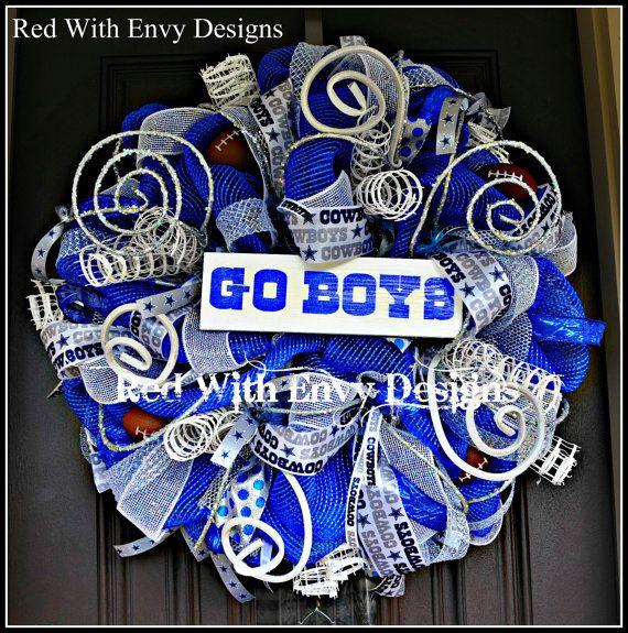 Dallas Cowboys Football Wreath, Football Wreath. Football, Football Decoration, Football Decor