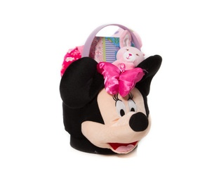 """Minnie's Basket"" Minnie Mouse Basket, Photo Album, Sleeper, Blanket and a Pop-Up Stuffed Animal/Blanket.    Perfect for Your Little Princess!  *Limited Quantity, While Supplies Last*  $65.00 CAD"