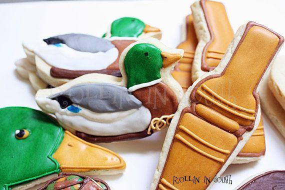 Duck Hunting Cookies, Hunting Cookies