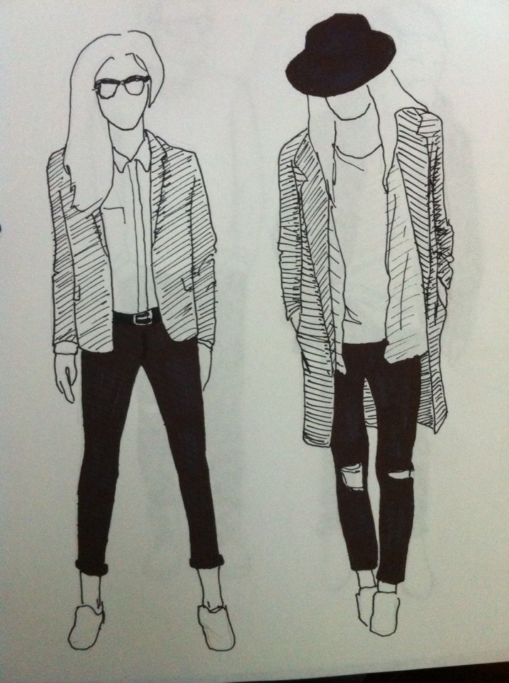 Clothing girls Illustration Drawing Ink