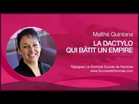 """Le sommet """"Succès de Femmes"""" - A la rencontre de Maithe Quintana - Pro dans l'attente de sa conference les 28 avril a 20h (Heure France) - Inscrivez vous et recevez votre ebook en cadeau des maintenant - Cliquez ici http://bibapedron.com/succesdefemmes"""